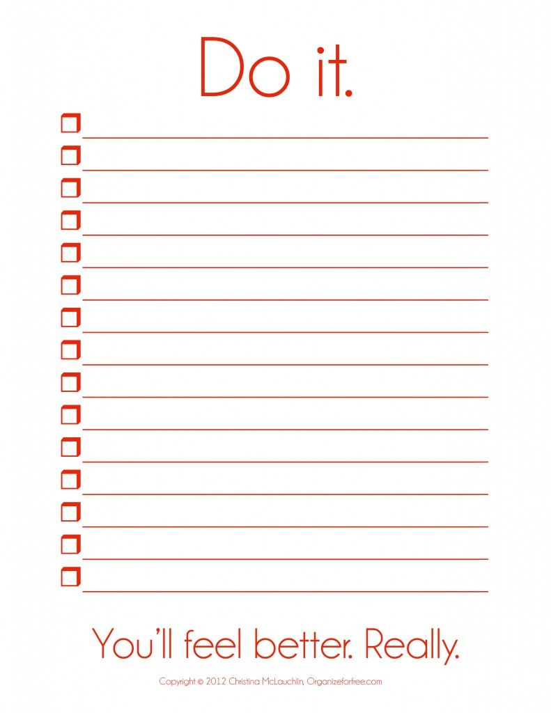 I So Need This! ~ Things To Do Template Pdf | Free Printable To Do - Free Printable To Do Lists To Get Organized
