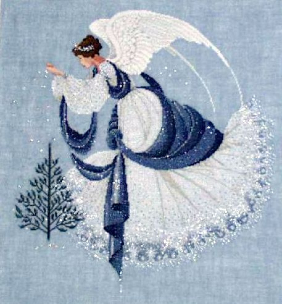 Ice Angel Cross Stitch | This Was A Difficult Piece To Compl - Free Printable Cross Stitch Patterns Angels
