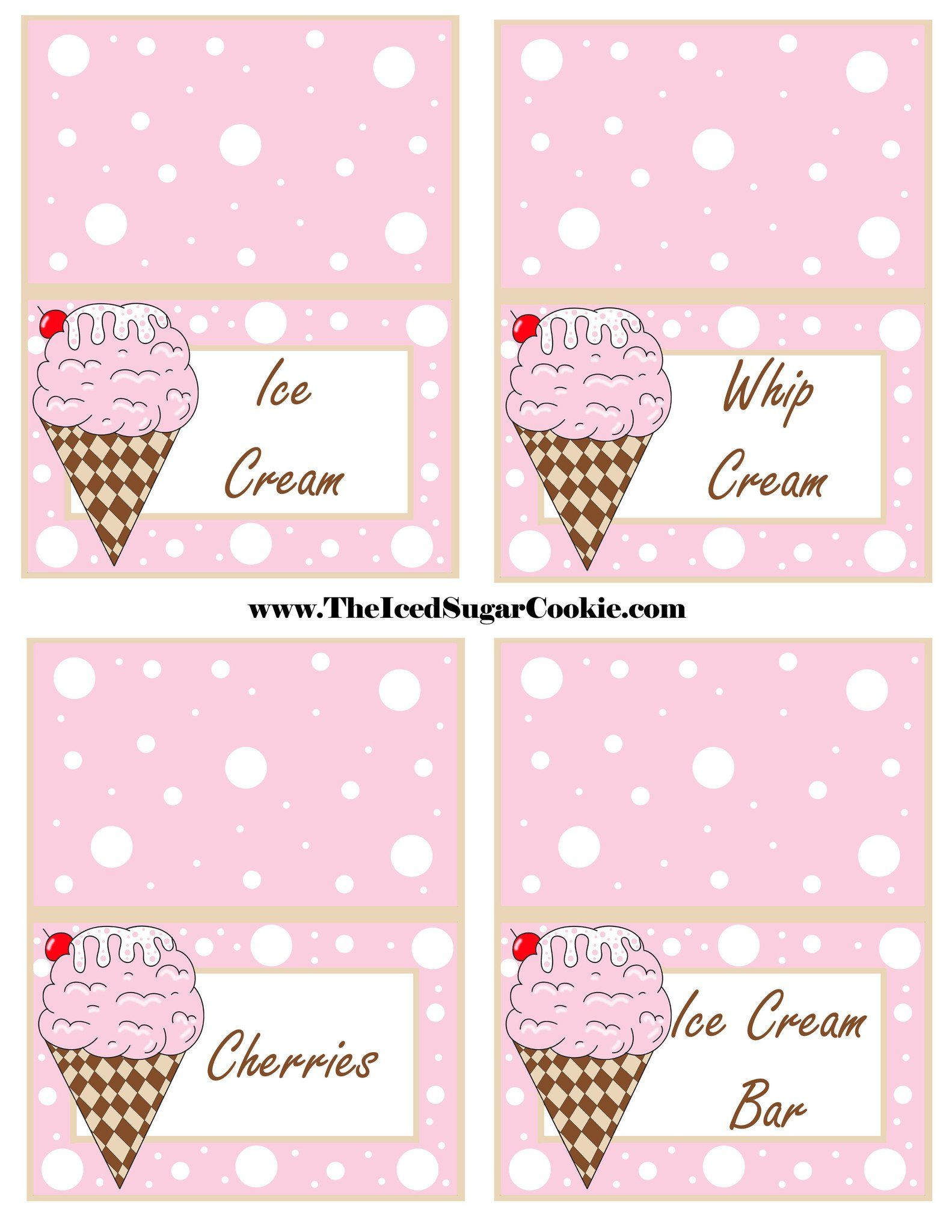 Ice Cream Birthday Party Free Printable Template Pattern Cutout - Ice Cream Party Invitations Printable Free