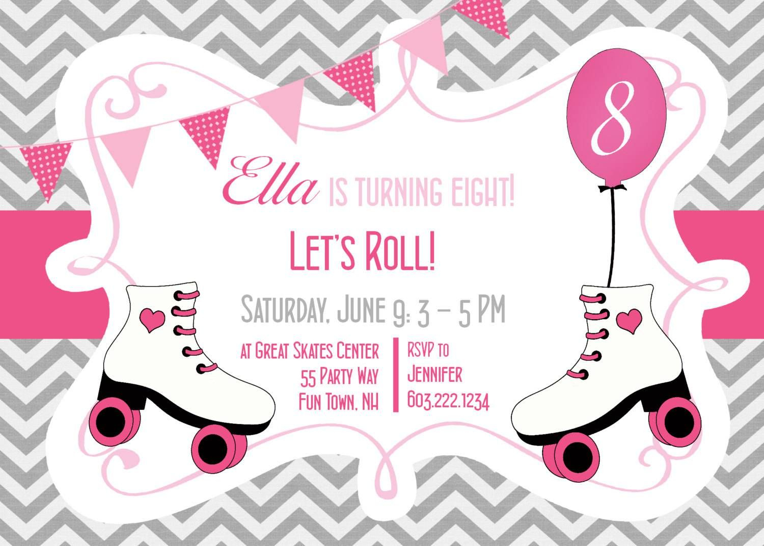 Ice Skating Party Invitations Free Printable | Kids Birthdays In - Free Printable Skateboard Birthday Party Invitations