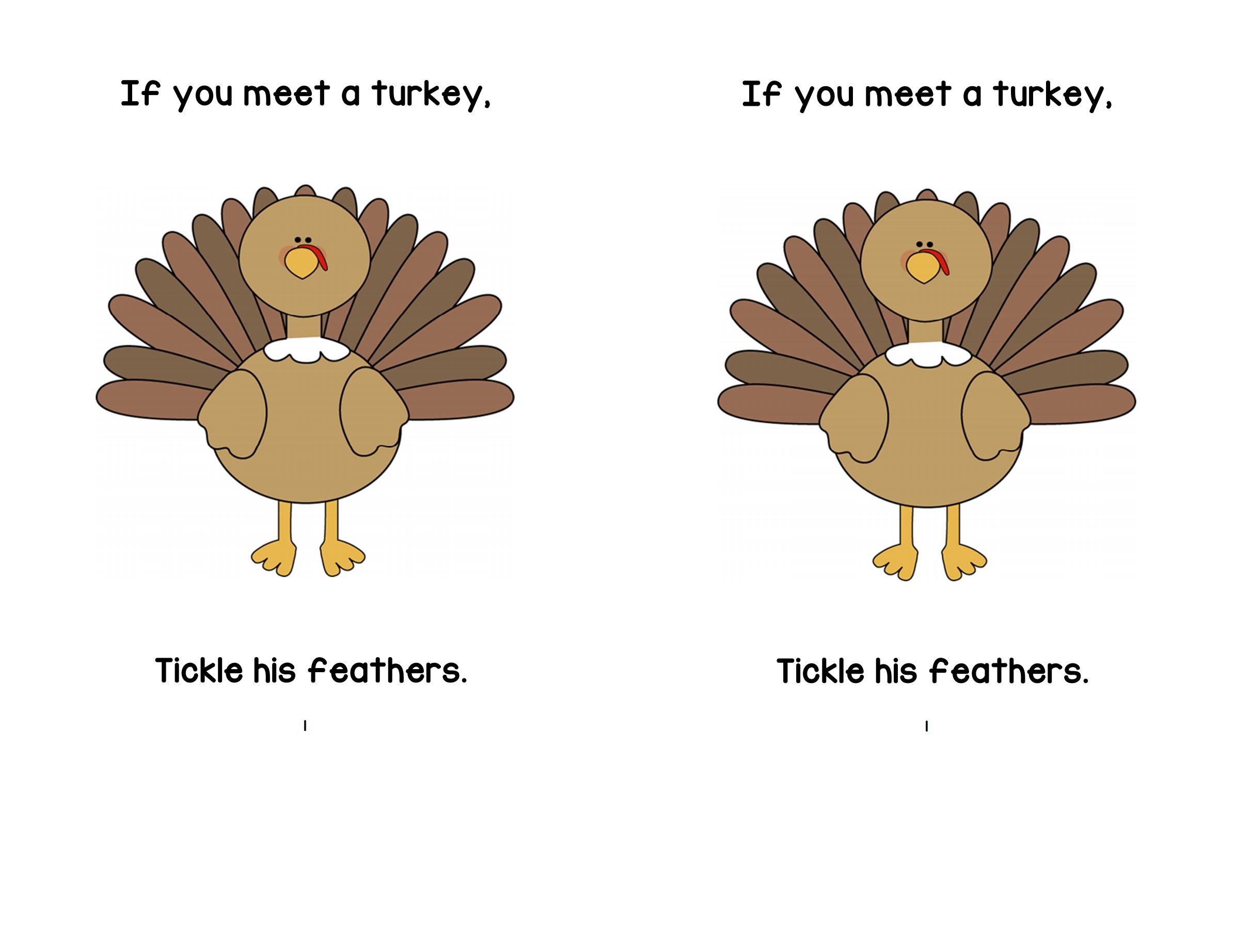If You Meet A Turkey Printable Book   A To Z Teacher Stuff Printable - Thanksgiving Printable Books Free