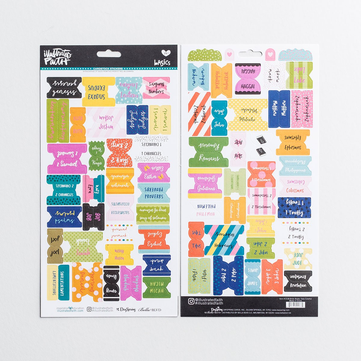 Illustrated Faith - Books Of The Bible Tabs, Colorful   Dayspring - Free Printable Bible Tabs