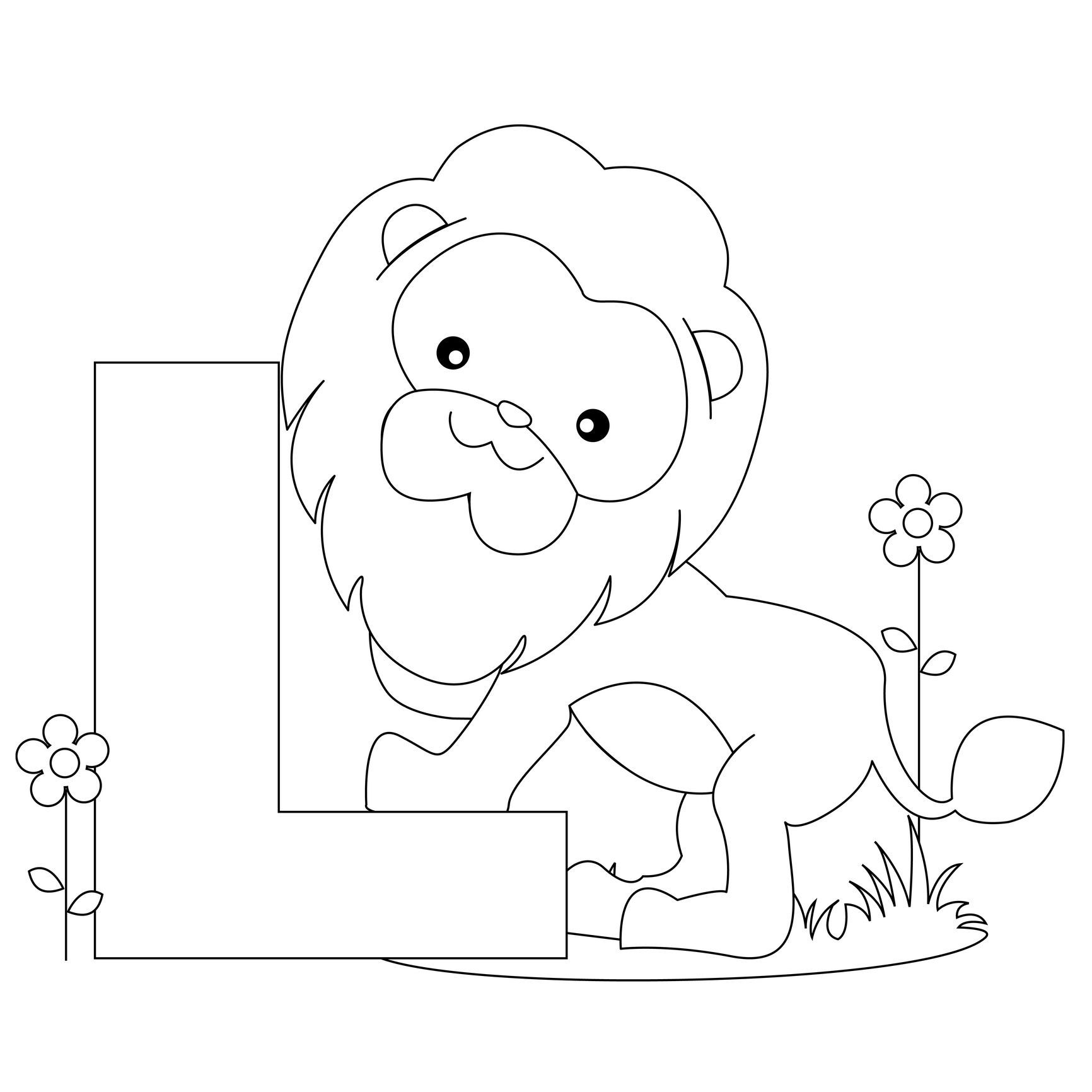 Image Detail For -Animal Alphabet: Letter L Coloring Worksheet And - Free Printable Animal Alphabet Letters