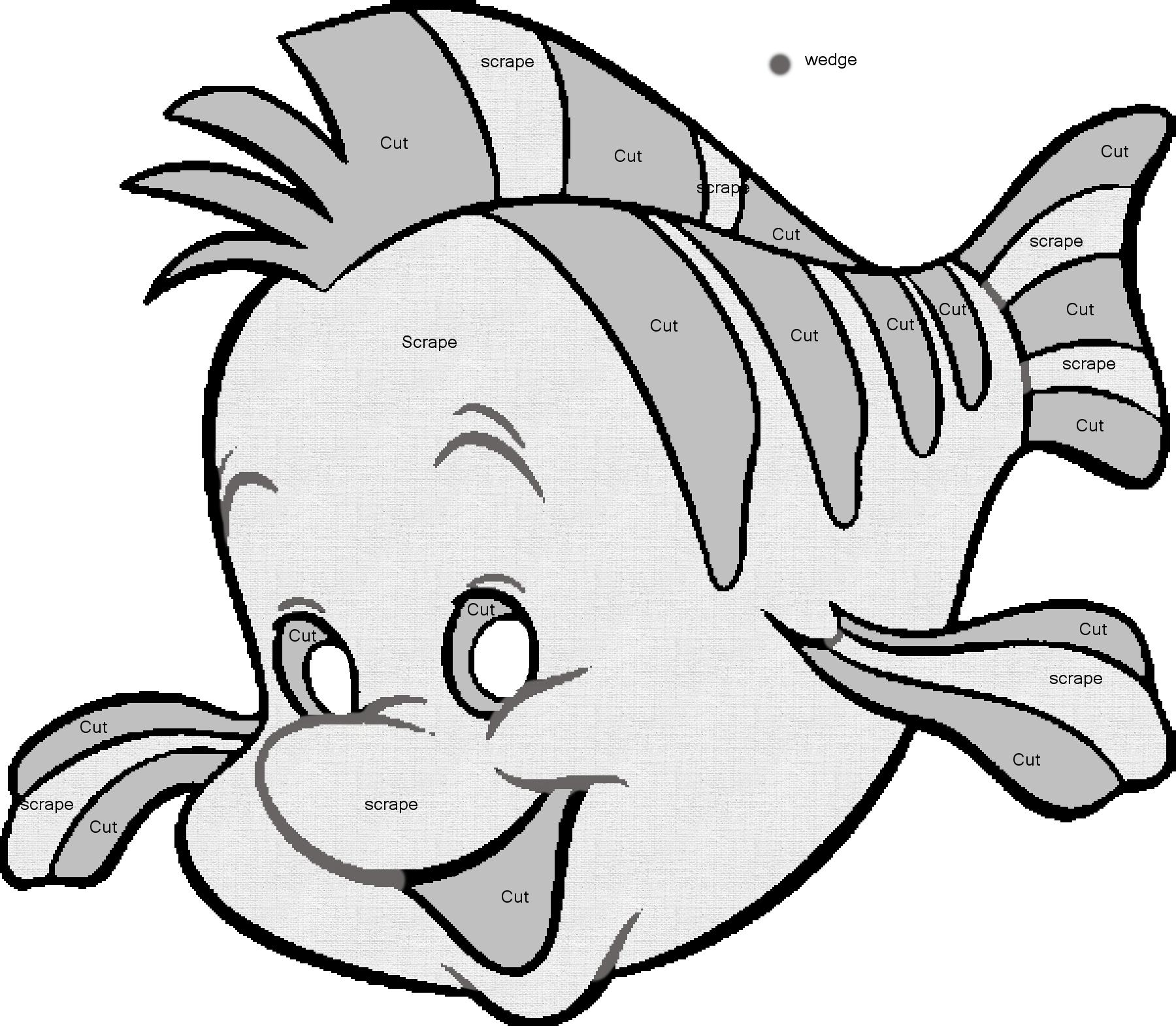Image Detail For -Flounder Carving Pattern~Saiyan-Silk On - Free Printable Toy Story Pumpkin Carving Patterns