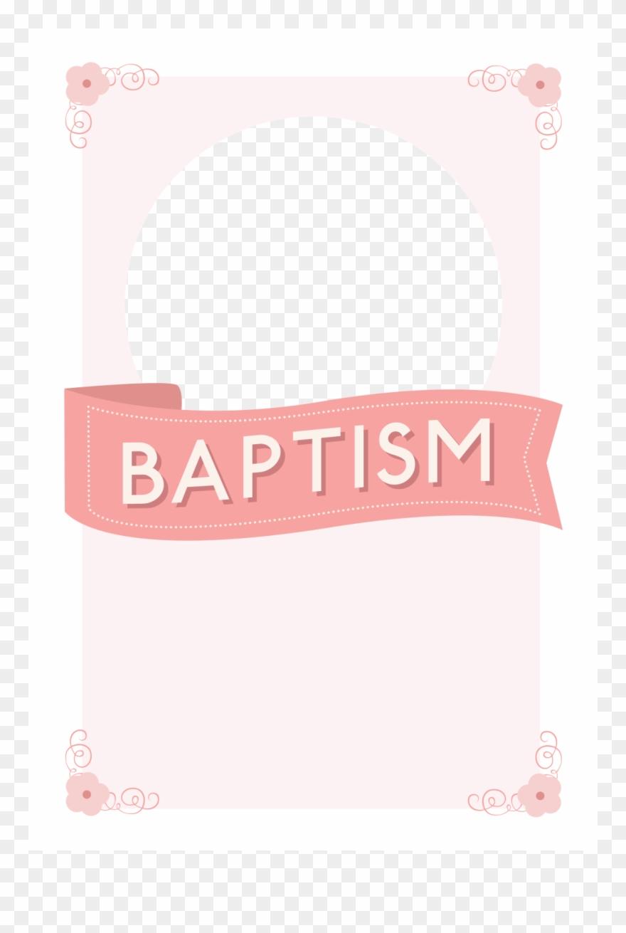 Image Free Pink Ribbon Free Printable - Baptism Invitation Pink - Free Printable Baptism Invitations