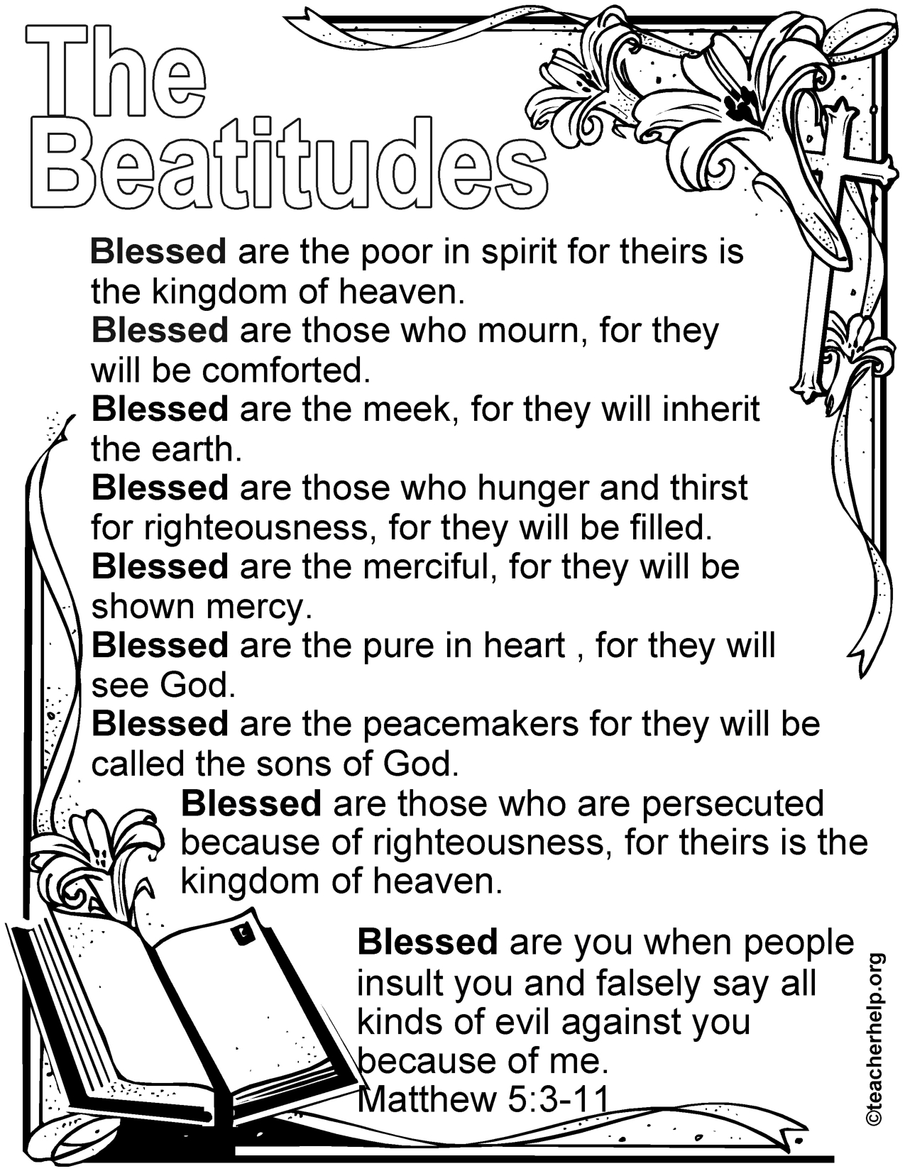 Image Result For Beatitudes For Kids Free Printable | Kids - Free Printable Children's Bible Lessons