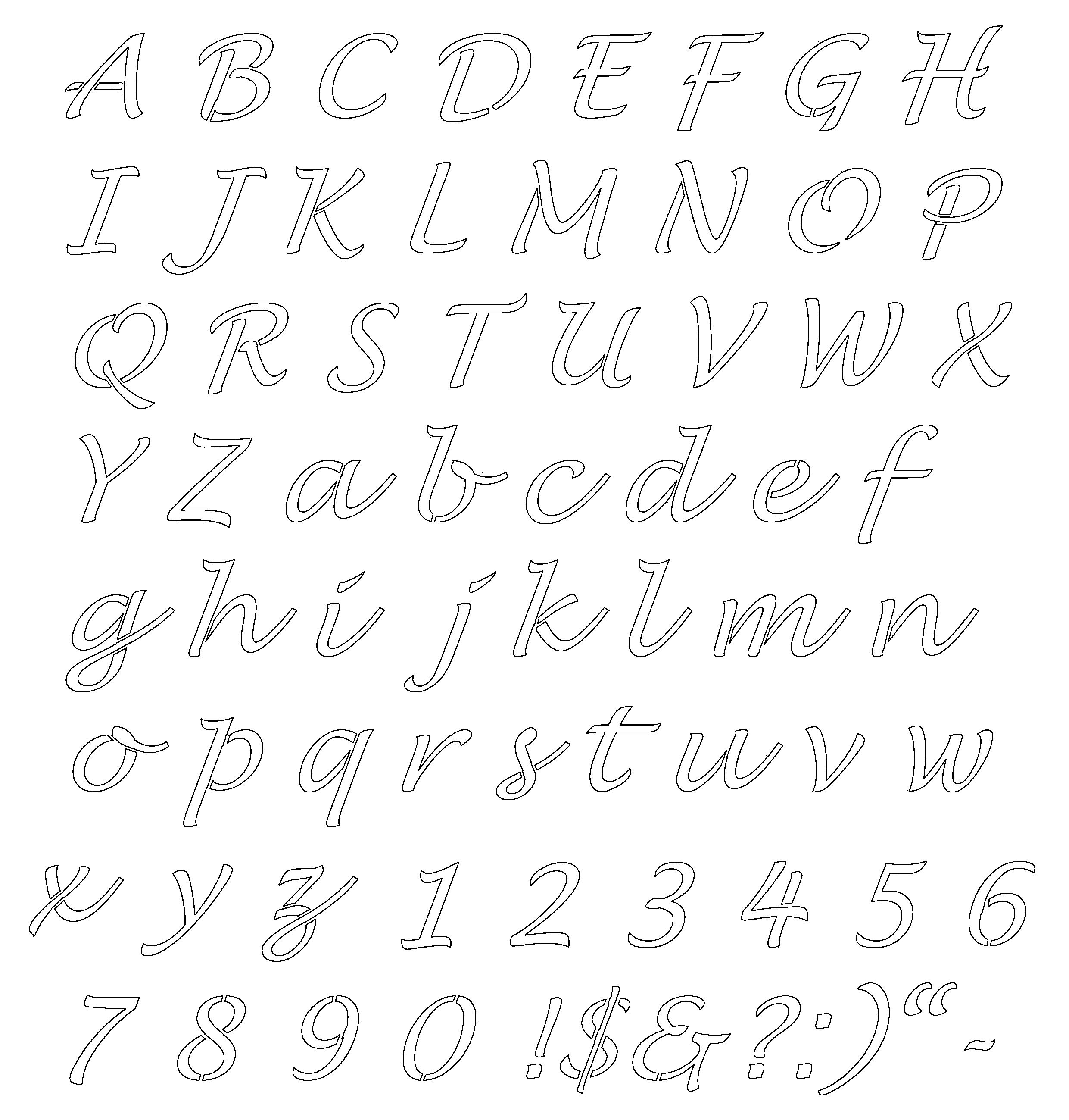 Image Result For Fancy Alphabet Letters Templates | Alphabets - Free Printable Fancy Number Stencils