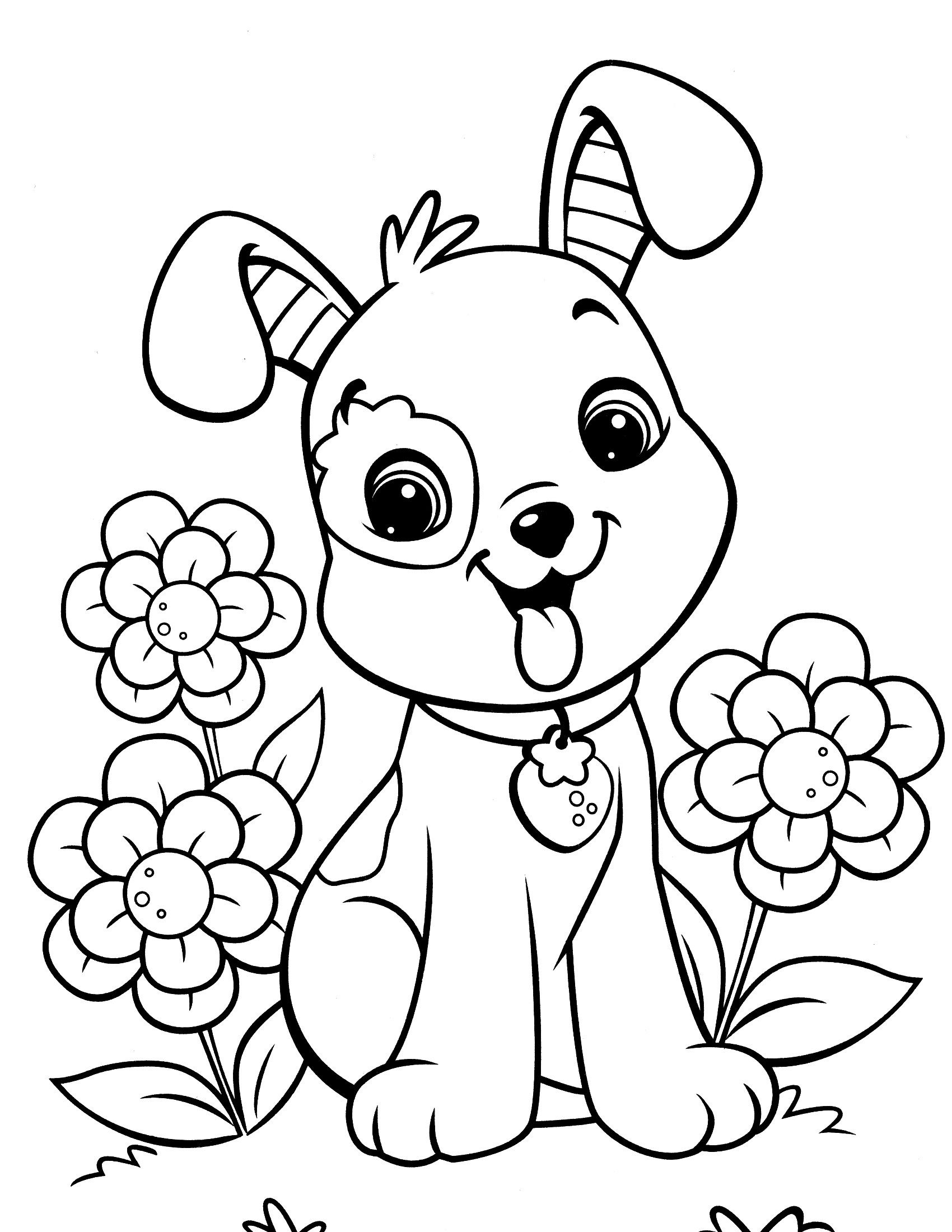 Image Result For Free Dog Coloring Pages | Coussin Cochon - Free Printable Dog Coloring Pages
