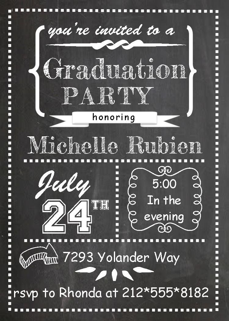 Image Result For Free Printable Graduation Invitations | College - Free Printable Graduation Party Invitations