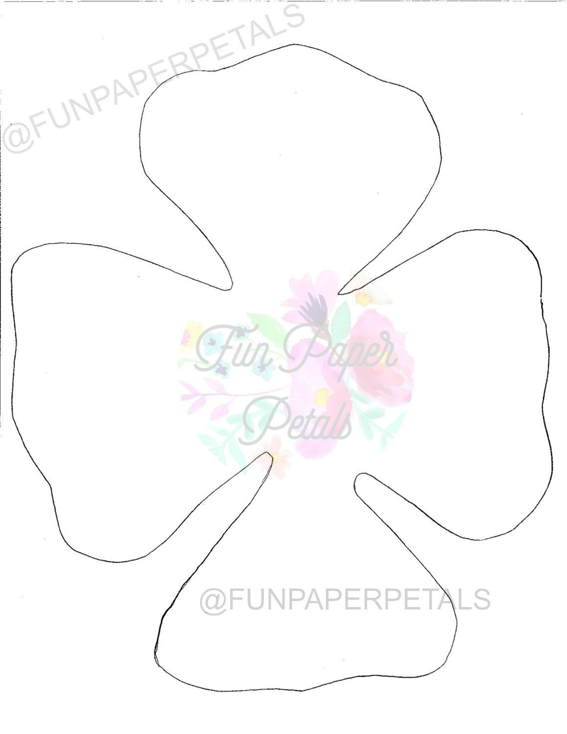 Image Result For Free Printable Paper Rose Templates | Paper Flowers - Free Paper Flower Templates Printable