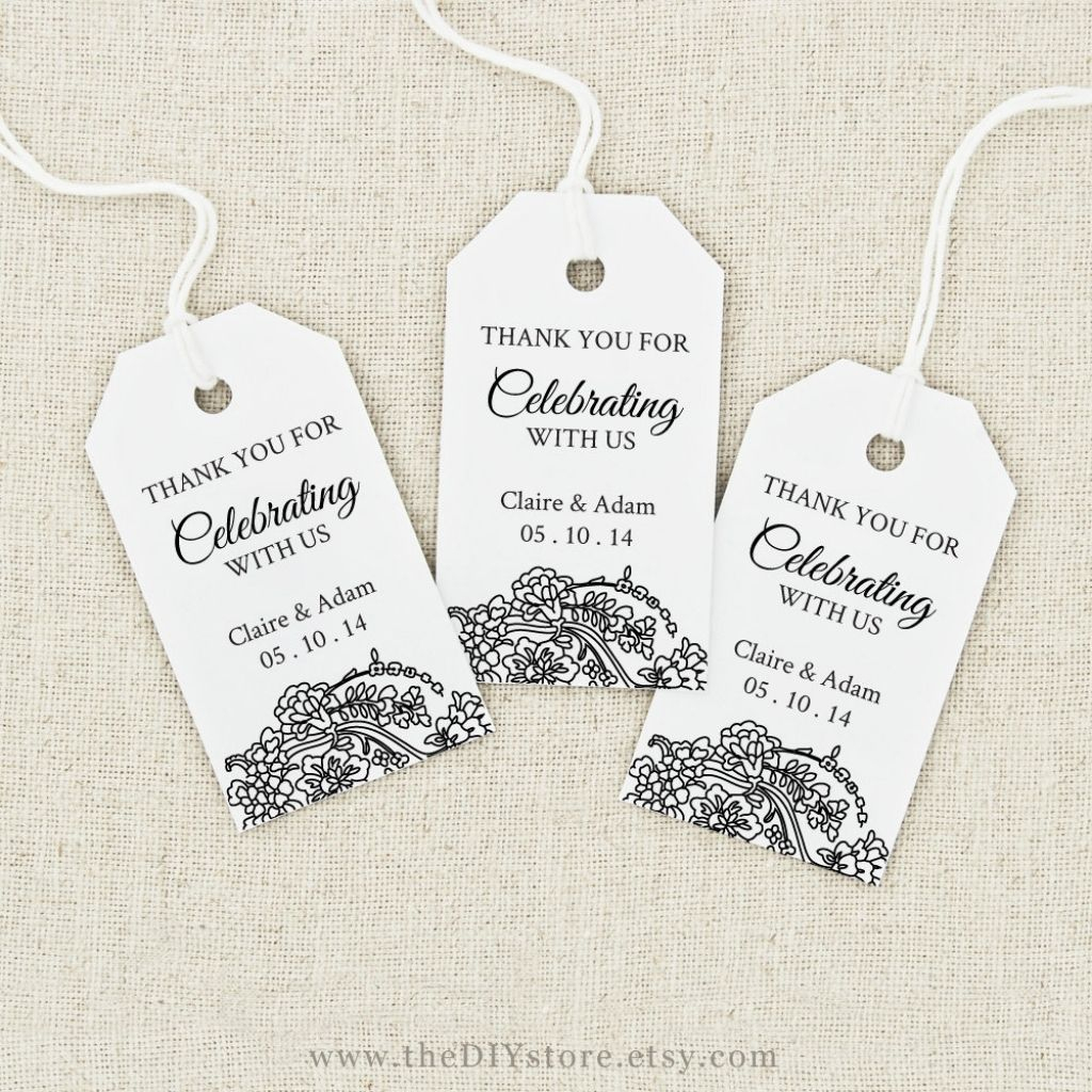 Image Result For Free Printable Wedding Favor Tags Template - Free Printable Thank You Tags Template