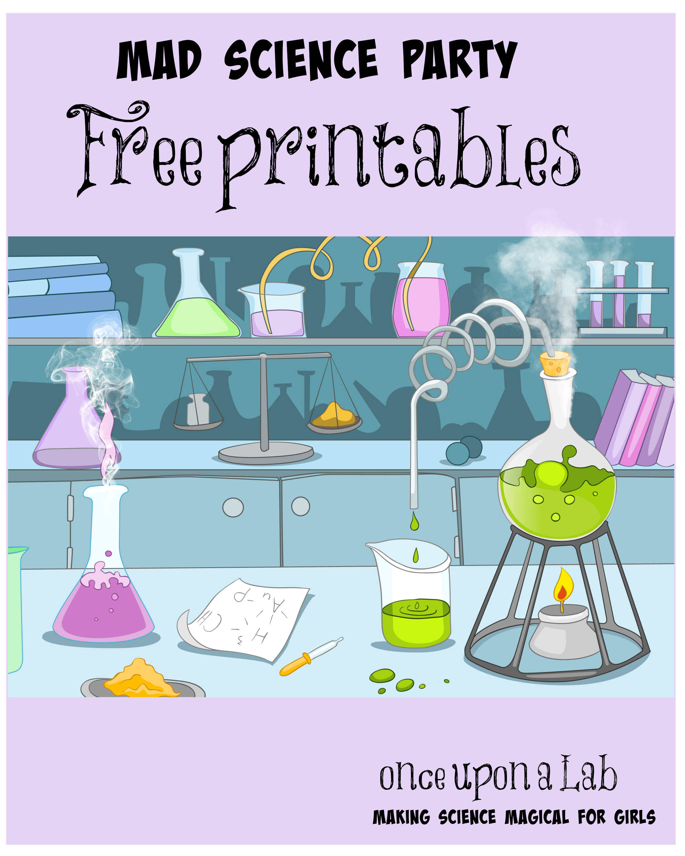 Image Result For Printable Mad Science Sign   Tea Time In 2019 - Free Printable Science Birthday Party Invitations