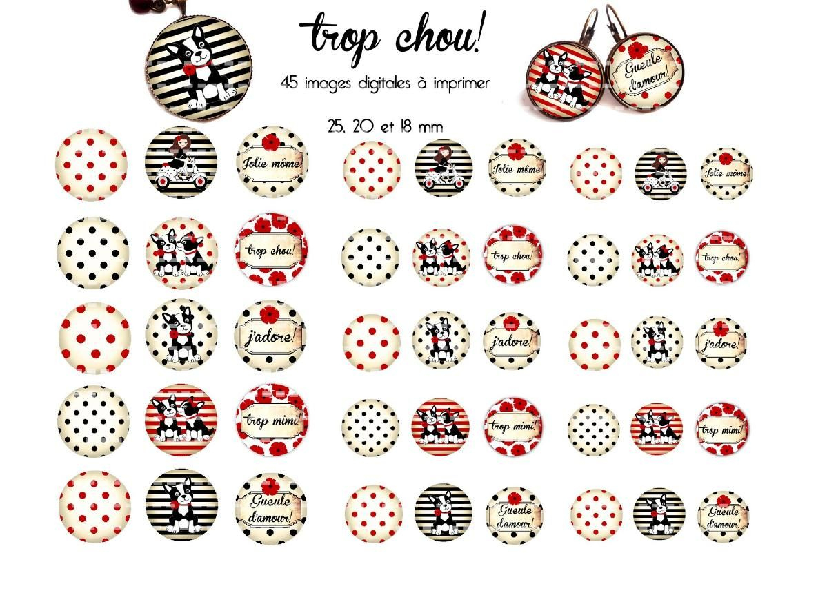 Images Pour Cabochons Et Création De Bijoux Trop Chou | Image - Free Printable Cabochon Templates