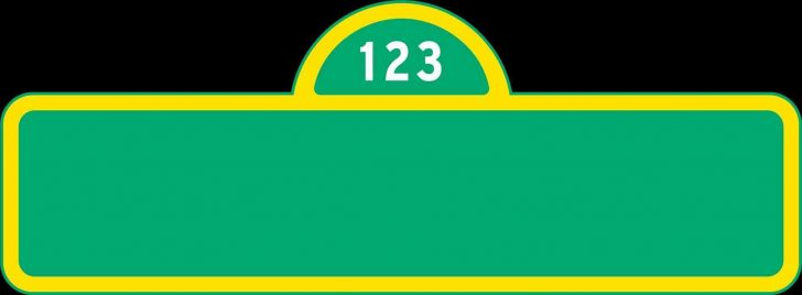Free Printable Sesame Street Sign