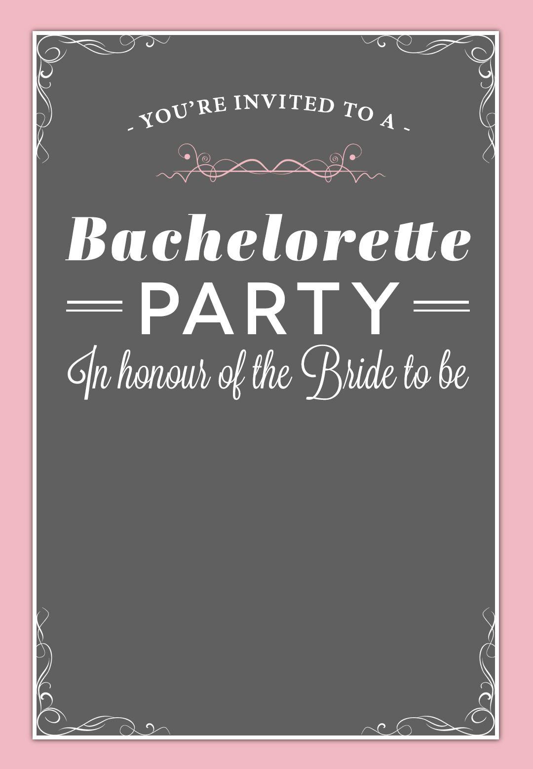 In Honour Of The Bride - Free Printable Bridal Shower Invitation - Free Printable Bridal Shower Invitations