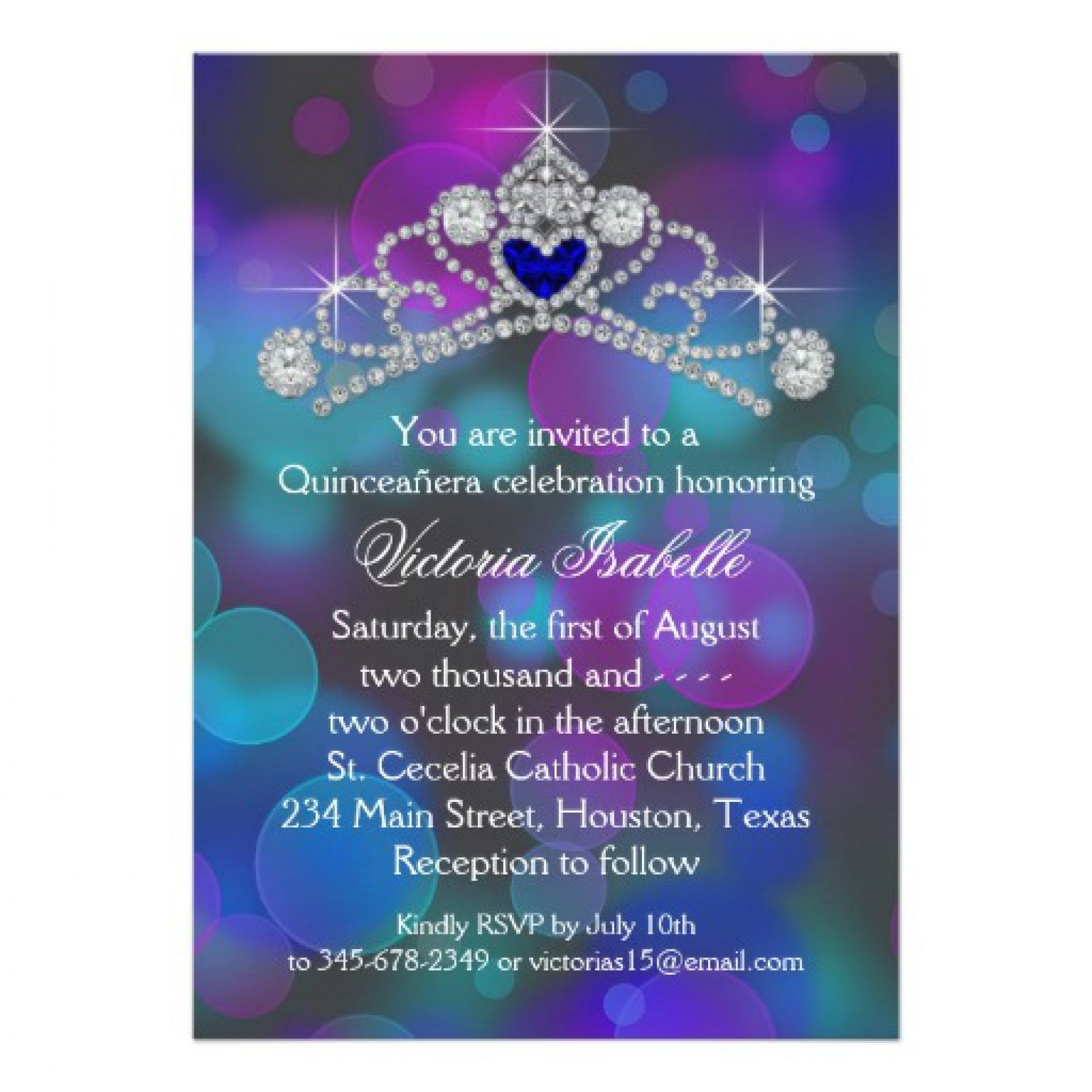 Incredible Free Quinceanera Invitation Templates ~ Ulyssesroom - Free Printable Quinceanera Invitations