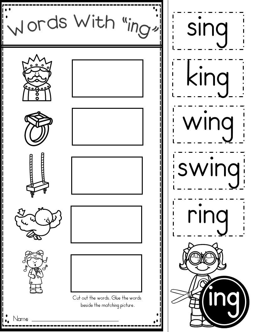 Ing Word Work | Kindergarten Tales | Phonics Worksheets, Family - Free Printable Word Family Worksheets For Kindergarten