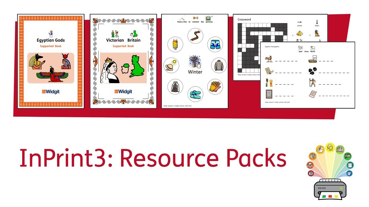 Inprint 3 Tutorial - Using Resource Packs - Youtube - Free Printable Widgit Symbols