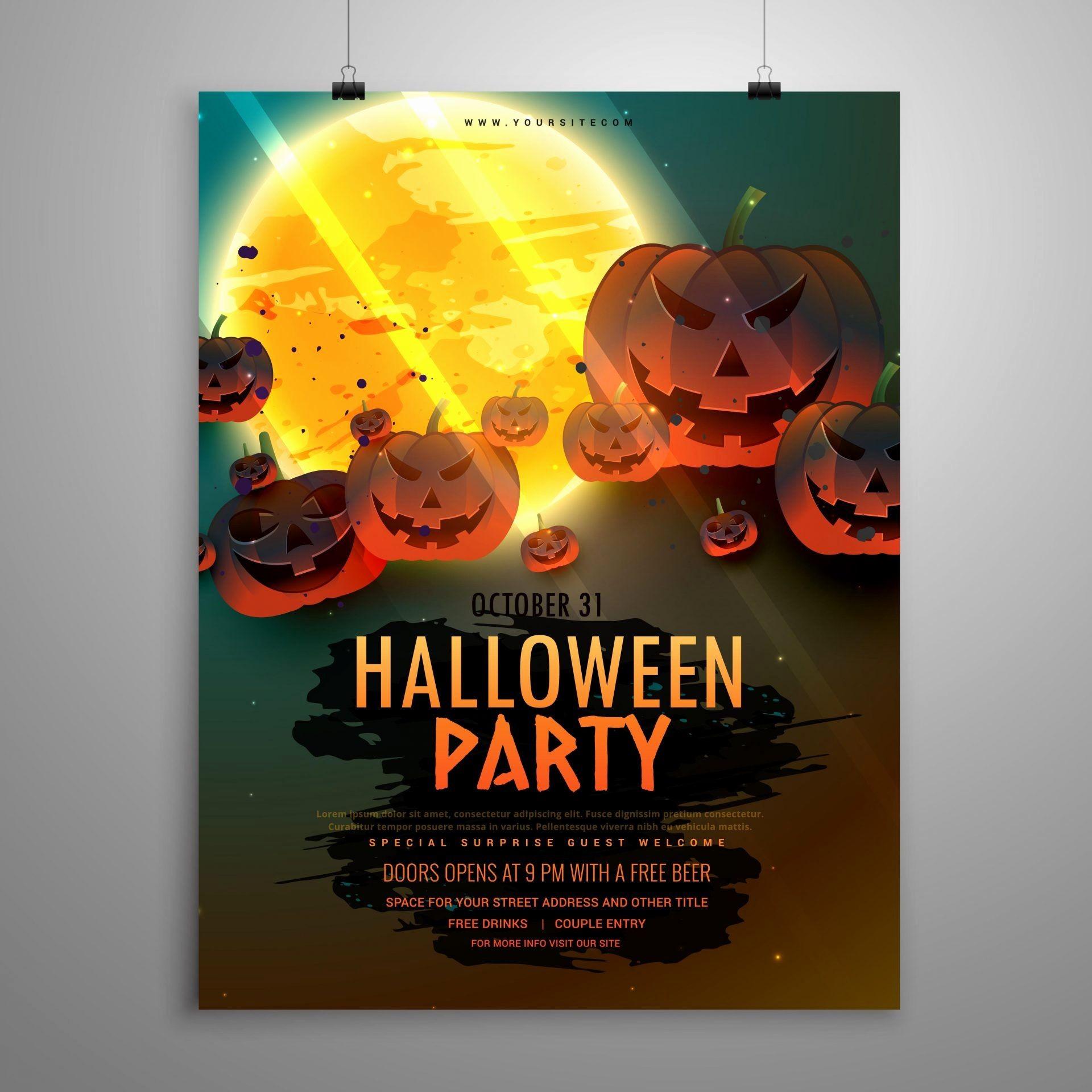 Inspirational Event Flyer Design Inspiration | Www.pantry-Magic - Free Printable Halloween Flyer Templates
