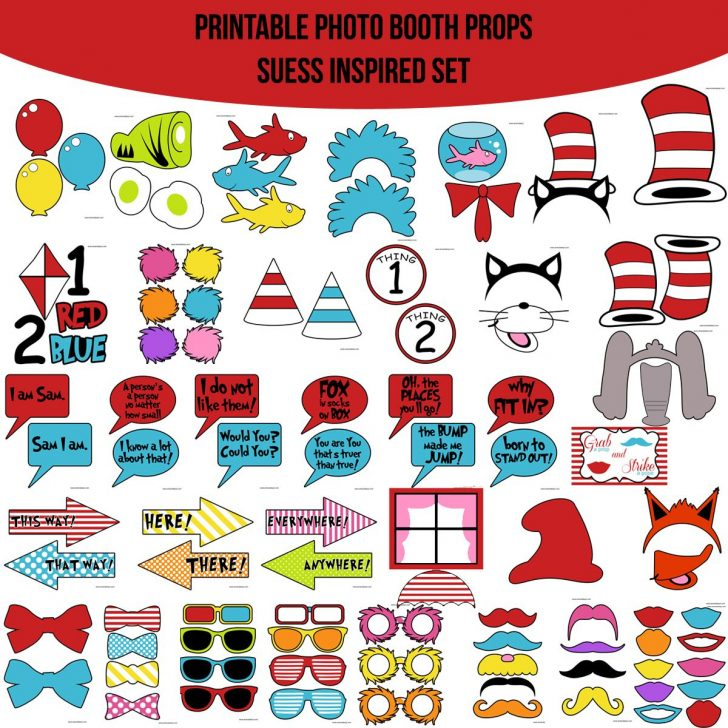Free Printable Dr Seuss Photo Props