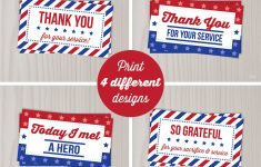 Military Thank You Cards Free Printable