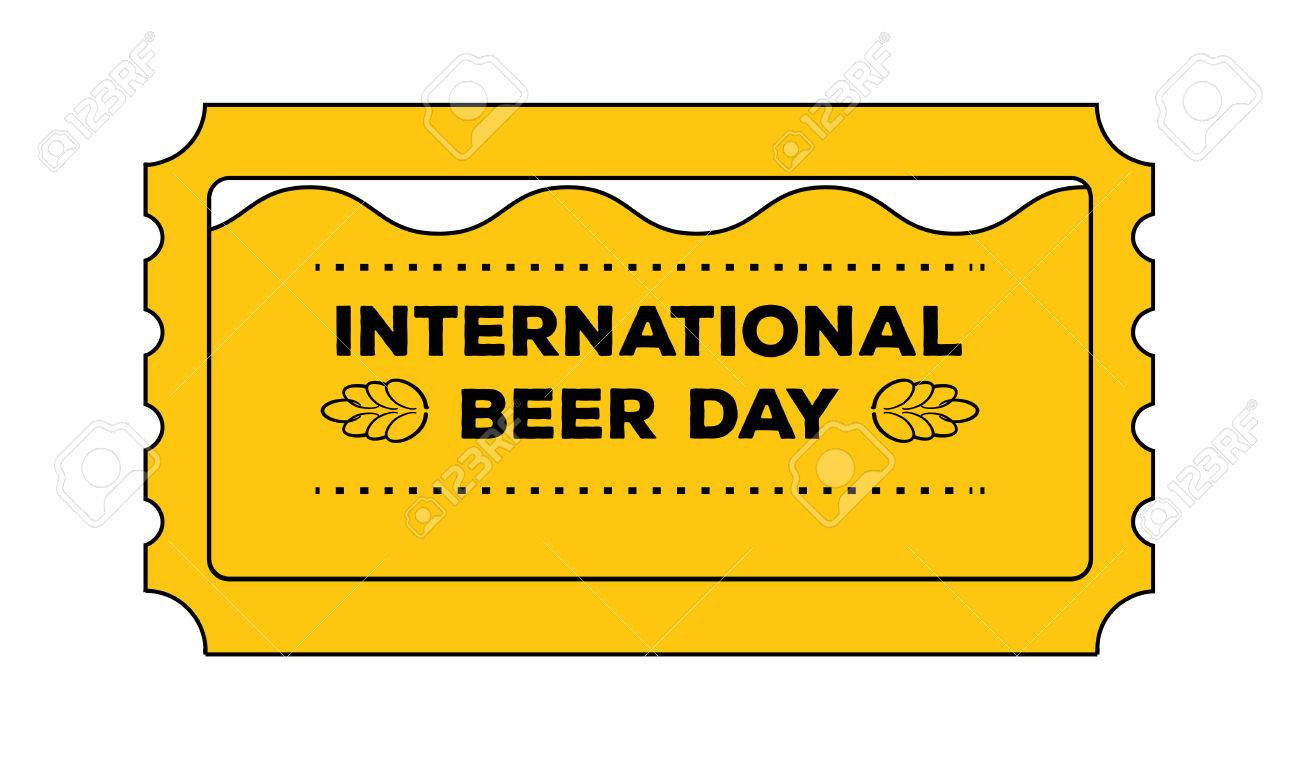 International Beer Day Concept As Admit One Ticket. Vector - Free Printable Beer Coupons