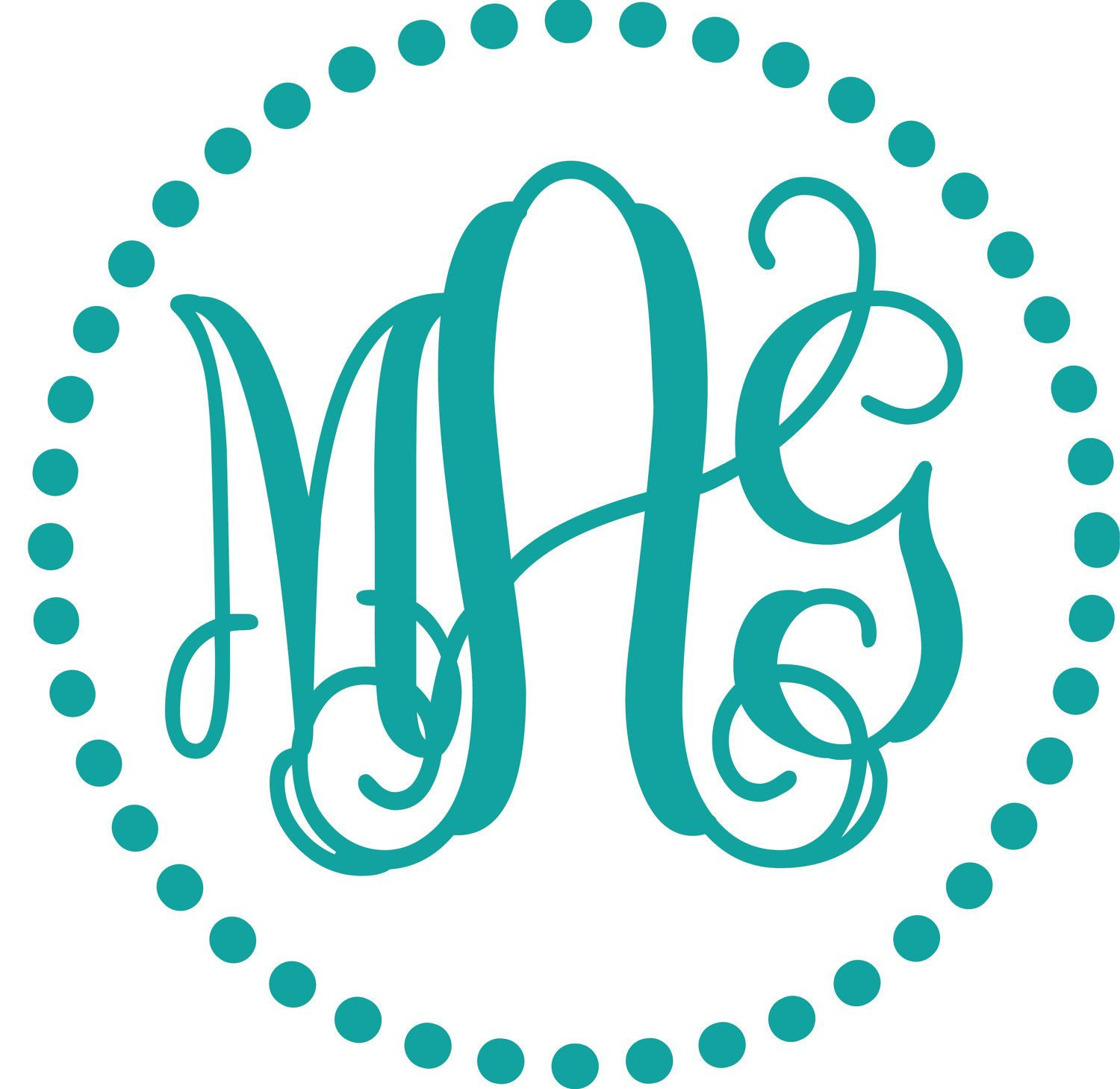 Intertwined Vine Interlocking Monogram Embroidery Font, Description - Monogram Maker Online Free Printable