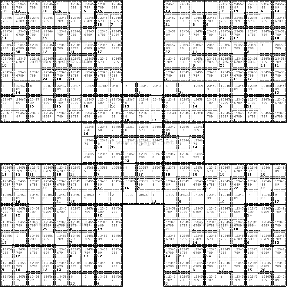 Introducing Killer Samurai Sudoku - Killer Sudoku Free Printable