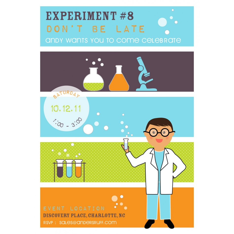 Invitation Amazing Free Science Birthday Party Invitation Templates - Free Printable Science Birthday Party Invitations