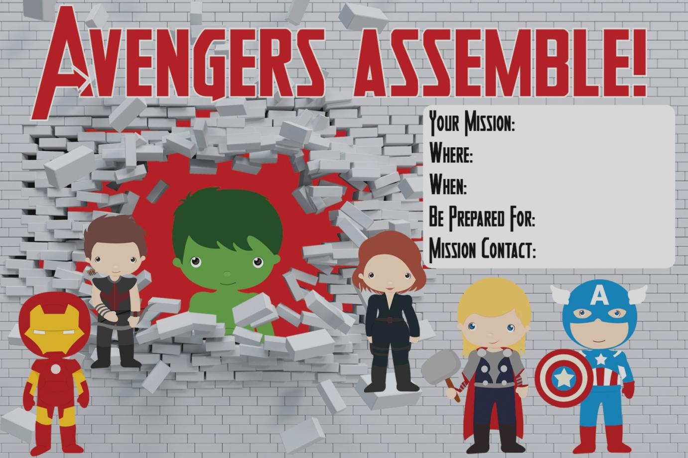 Invitation. Avengers Birthday Invitations Free - Trailtorecovery - Avengers Printable Invitations Free