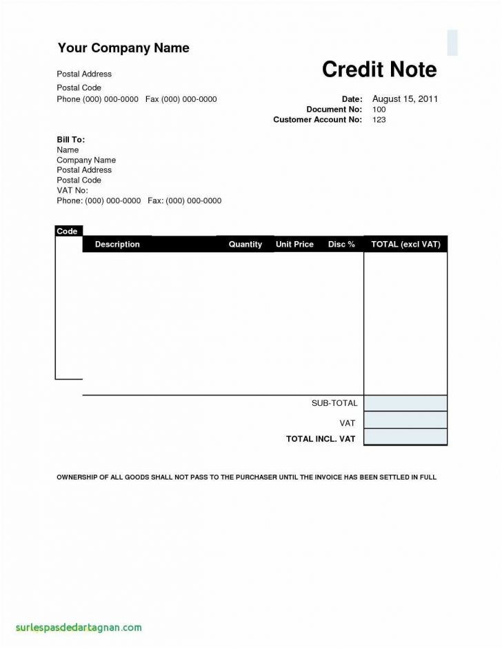Invoice Templates Printable Free Word Doc