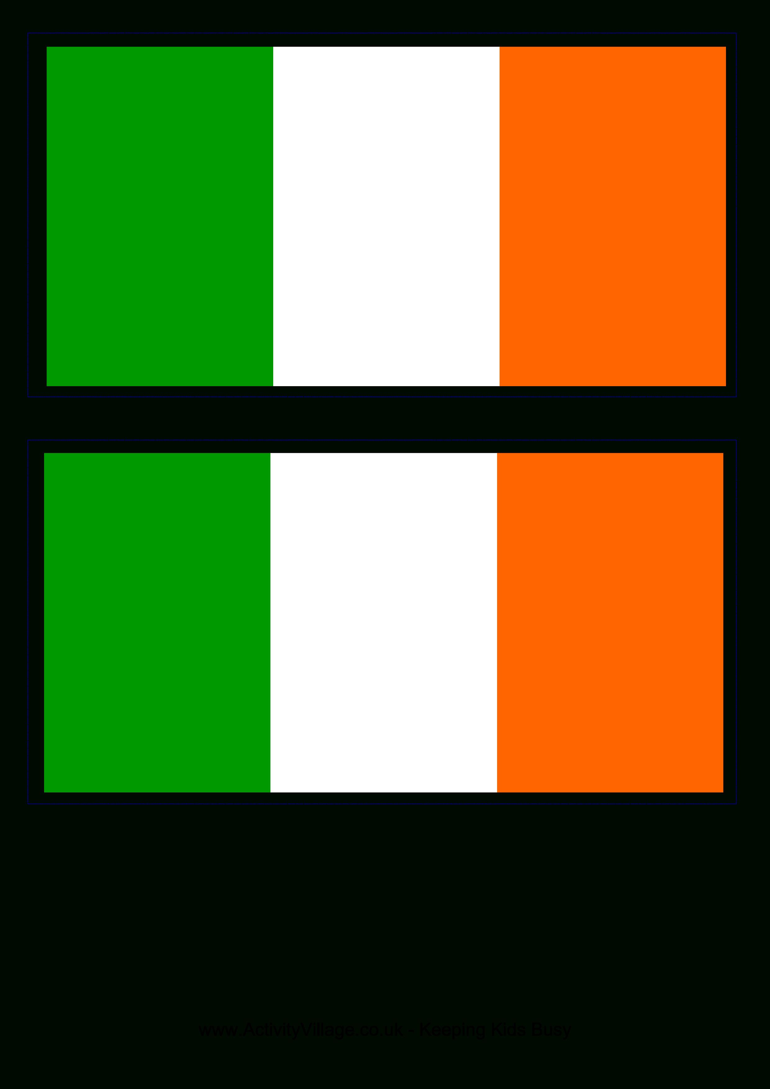 Irish Flag - Free Printable Irish Flag   When I'm Feelin Crafty - Free Printable Scottish Flag