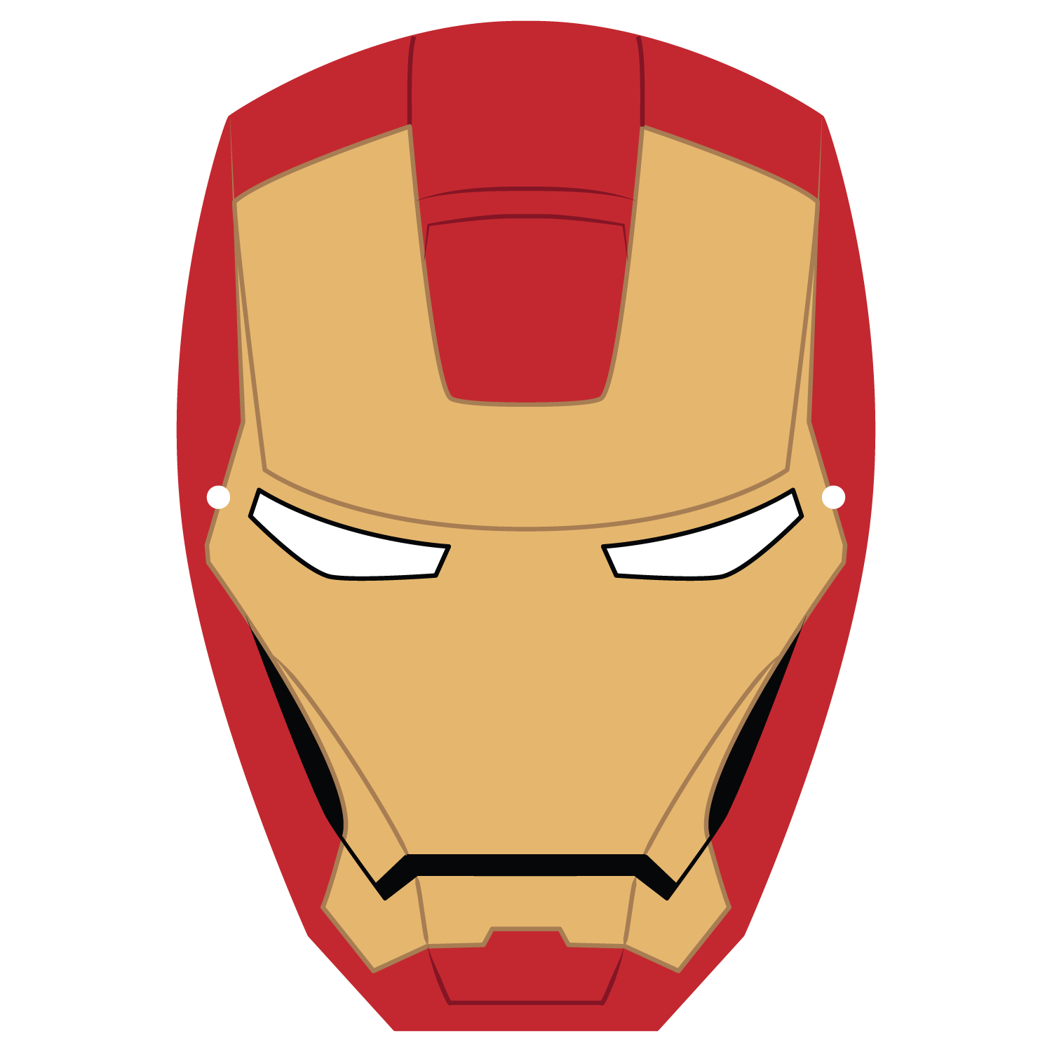Ironman Mask Template | Free Printable Papercraft Templates - Free Printable Ironman Mask