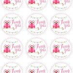It's A Girl Free Printable Tags – Jowo   Free Printable Thank You Tags Template