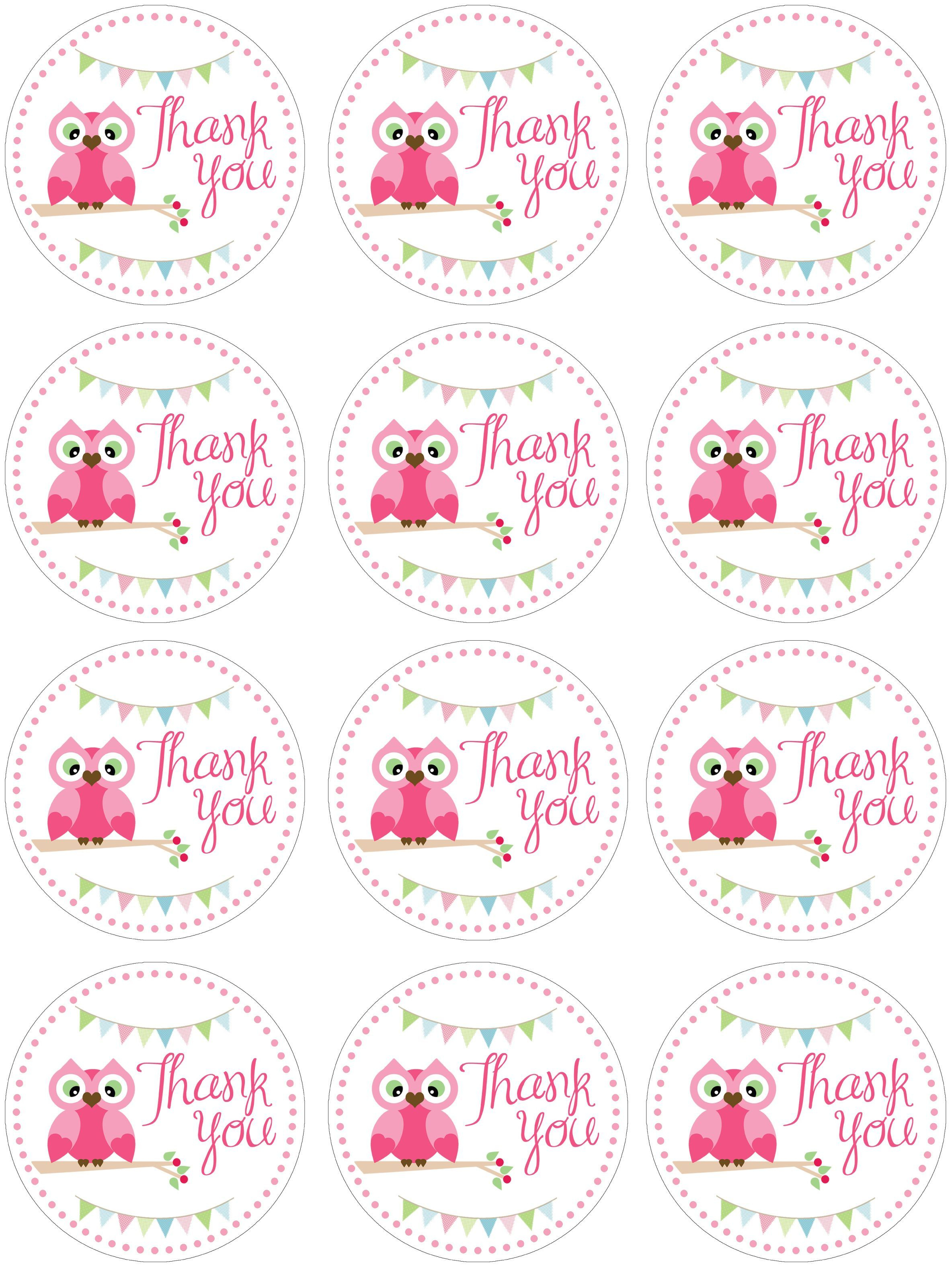 It's A Girl Free Printable Tags – Jowo - Free Printable Thank You Tags Template
