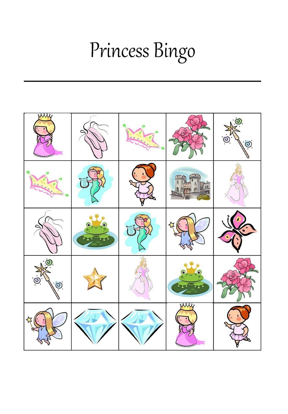 It's A Princess Thing: Free Printable Princess Bingo Game | Party - Free Printable Tea Party Games
