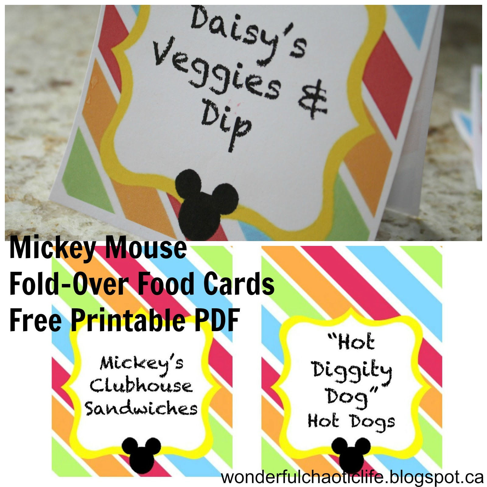 It's My Wonderful Chaotic Life: Mickey Mouse Birthday Party Free - Free Printable Mickey Mouse Favor Tags