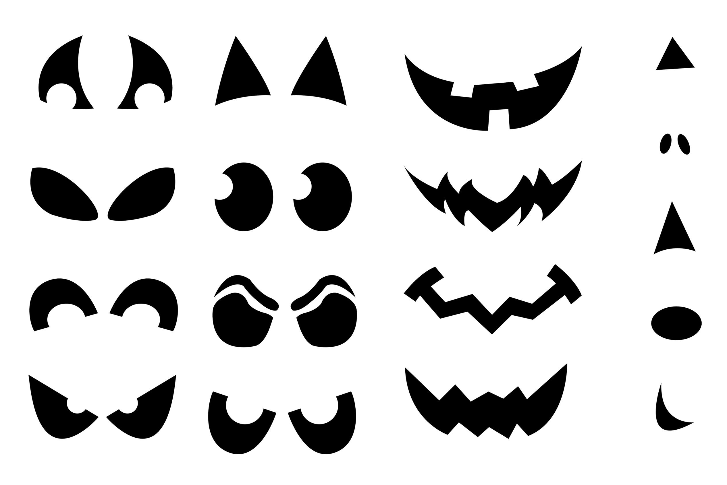 Jack-O'-Lantern Shirt Stencils | Craft Buds - Free Printable Pumpkin Faces