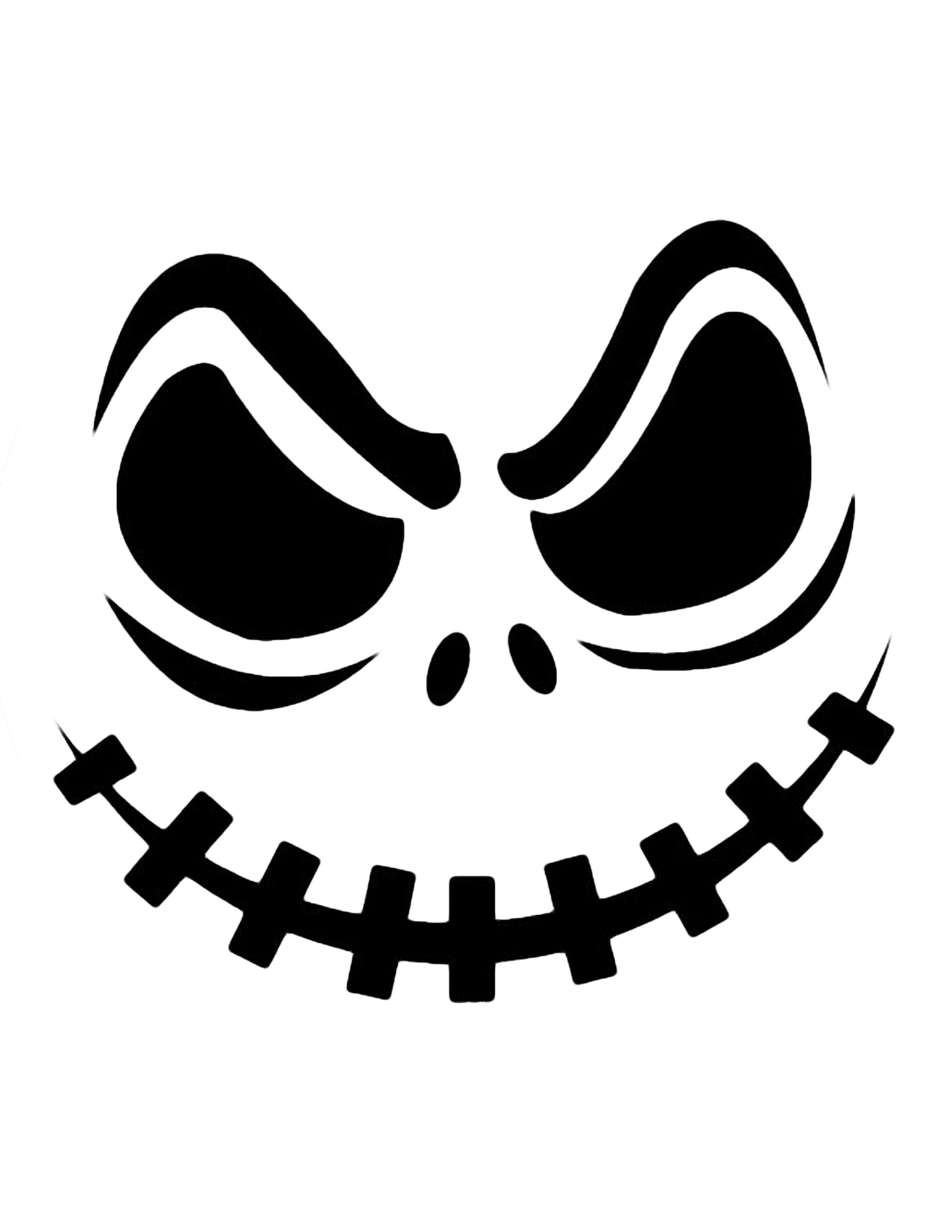 Jack Skellington Pumpkin | Cricut Cutter Ideas | Halloween, Pumpkin - Free Printable Pumpkin Carving Stencils