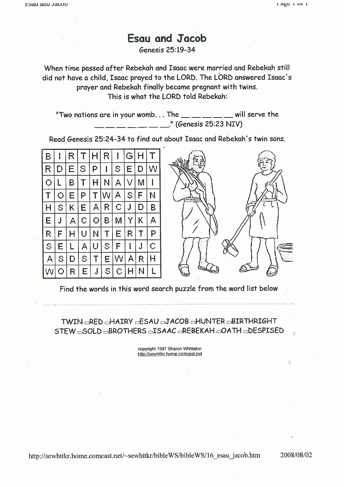 Jacob And Esau | Bible Characters | Pinterest | Genesis Bible, Bible - Free Printable Bible Study Lessons Genesis