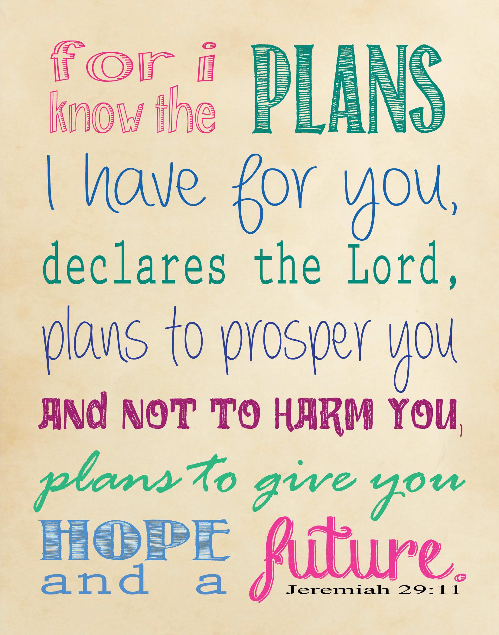 Jeremiah-29-11-Printable | True Aim - Jeremiah 29 11 Free Printable
