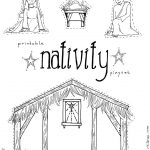 "Jesus In The Manger"" Coloring Pages – Nativity Playset Craft   Free Printable Pictures Of Nativity Scenes"