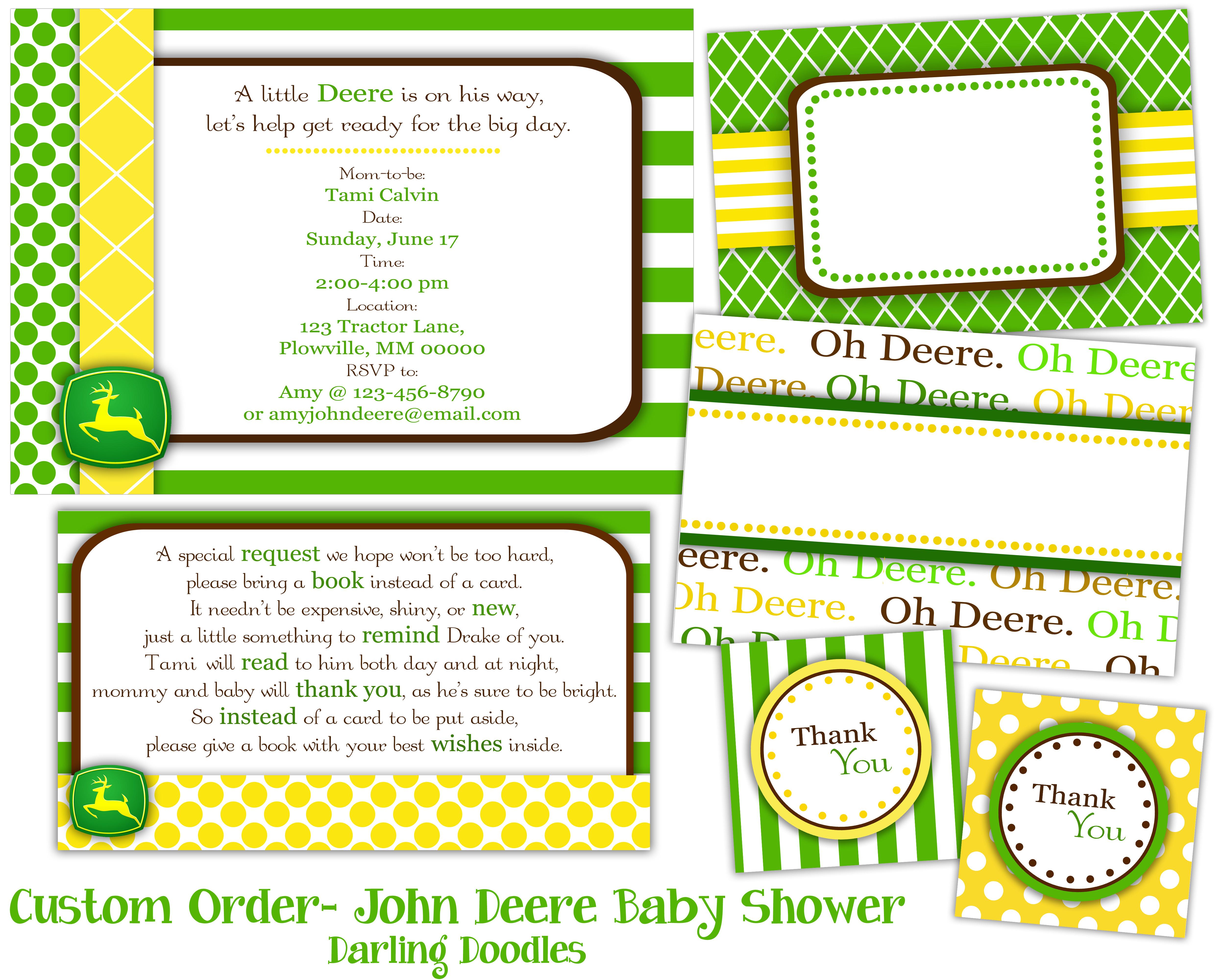 John Deere Baby Shower Invitations For Free   Shilohmidwifery - Free Printable John Deere Baby Shower Invitations