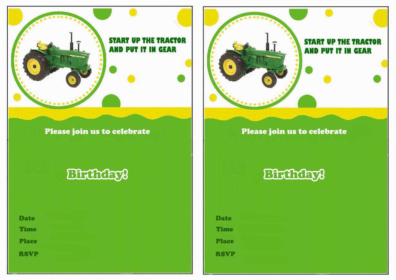 John Deere Birthday Invitations | Birthday Printable - Free Printable John Deere Birthday Invitations