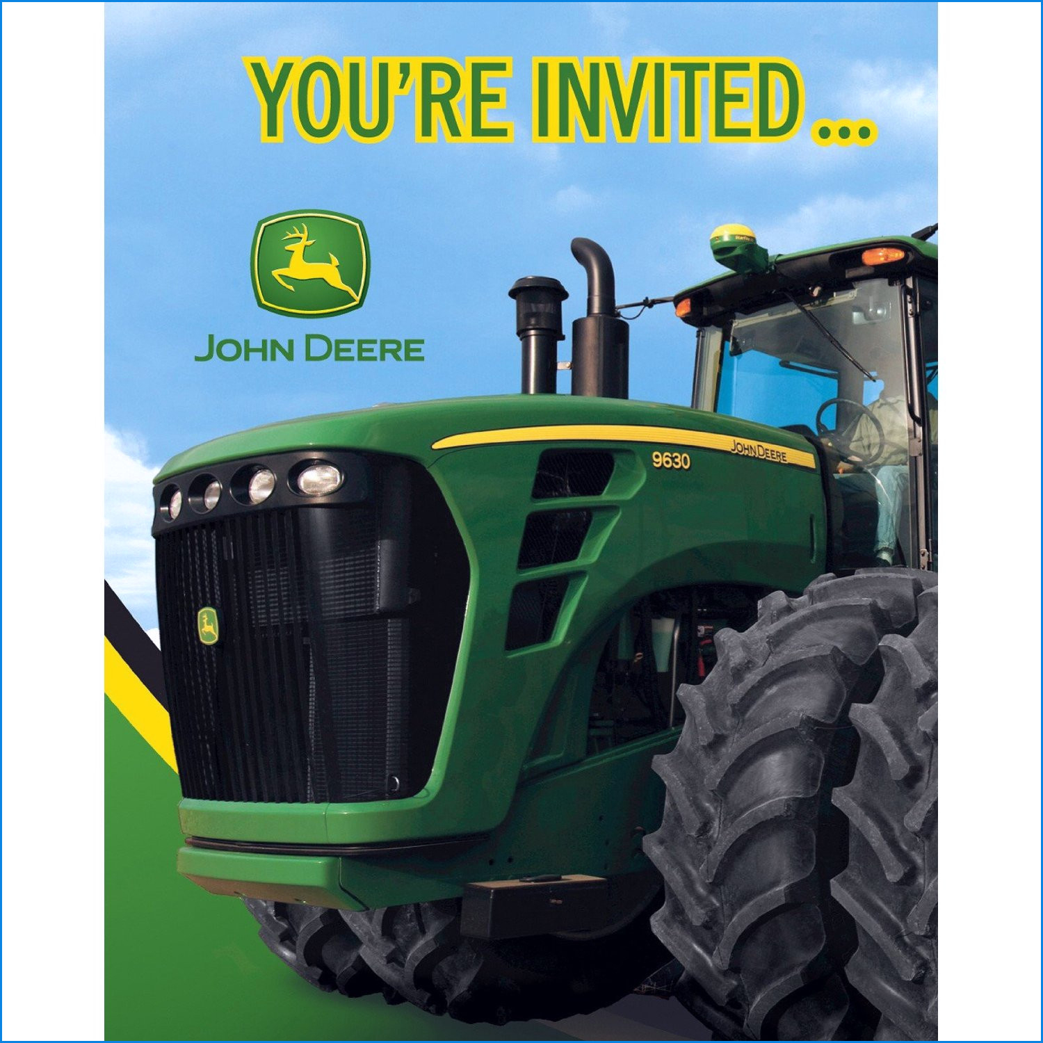 John Deere Birthday Invitations Fresh John Deere Birthday Invitation - Free Printable John Deere Birthday Invitations