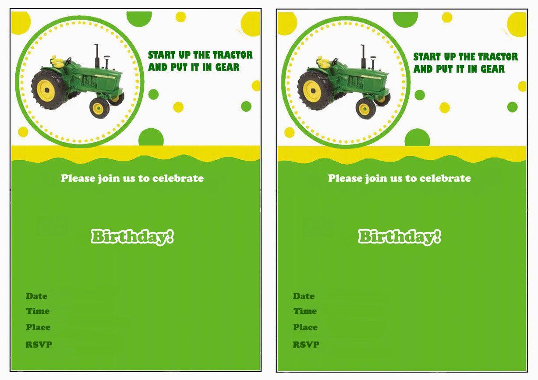John Deere Free Printable Birthday Party Invitations | Birthday - Free Printable John Deere Food Labels
