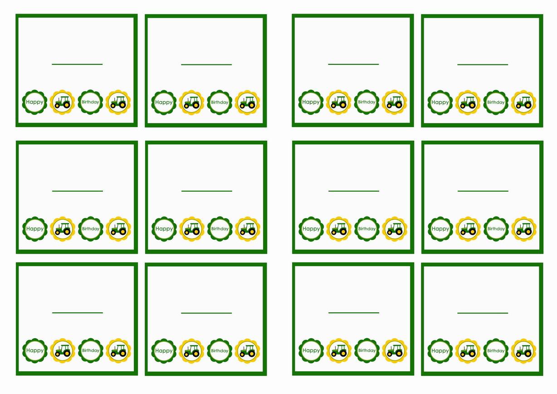 John Deere Name Tags | Birthday Printable - Free Printable John Deere Food Labels