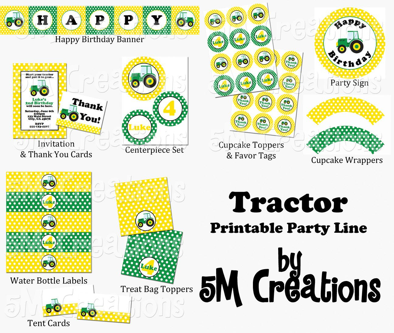 John Deere Party Packages | Tractor Party Package - John Deere - Free Printable John Deere Food Labels