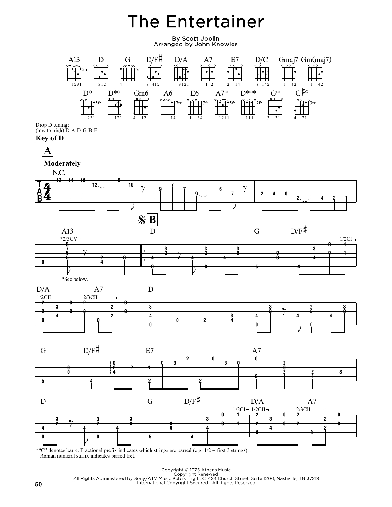 """John Knowles """"the Entertainer"""" Sheet Music Notes, Chords 