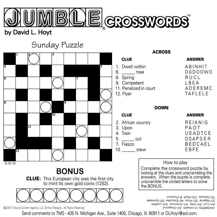 Jumble Puzzle Printable Free